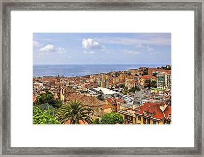 Over The Roofs Of Sanremo Framed Print