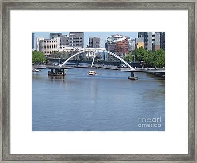Over The Yarra Framed Print by Donna Cavender