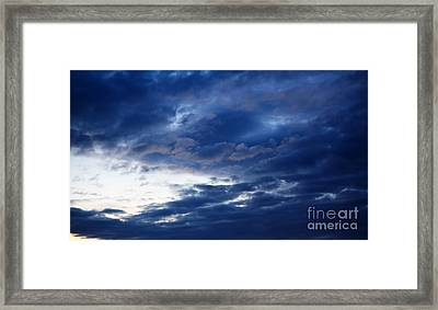 Overcast Sky In The Morning Framed Print by Gabriela Insuratelu