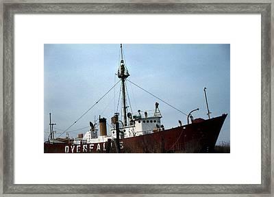 Overfalls Lightship Framed Print by Skip Willits