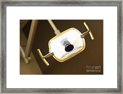 Overhead Dentist Lamp Framed Print by Jetta Productions, Inc