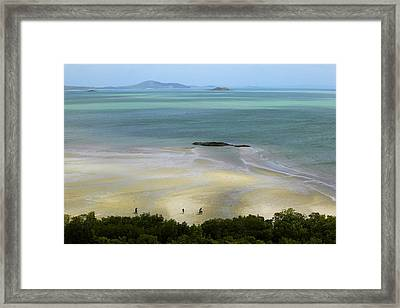 Overhead Of Cape York, Mainland Australia's Northernmost Point Framed Print by Johnny Haglund