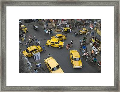 Overhead Of Intersection Near Chowinghee Road Framed Print by Tom Cockrem