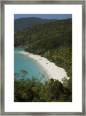 Overhead Of Trunk Bay Framed Print by Margie Politzer