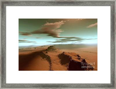 Overhead View Of A Vast Desert Framed Print by Corey Ford