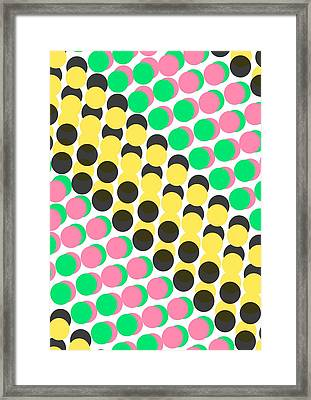 Overlayed Dots Framed Print by Louisa Knight