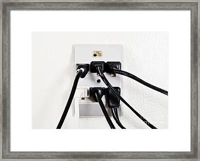 Overloaded Outlet Framed Print
