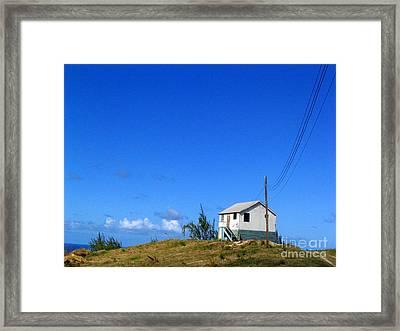 Overlooking The Eastcoast Framed Print
