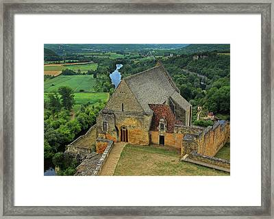 Overlooking The French Countryside Framed Print by Dave Mills