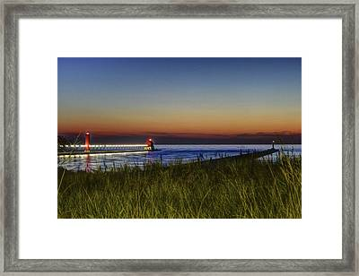 Overlooking The Piers Framed Print