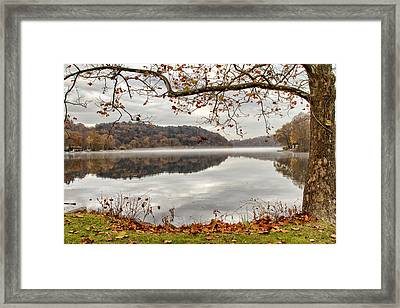 Overlooking The River Framed Print by Karol Livote