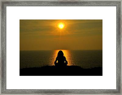 Overlooking The Sea Framed Print