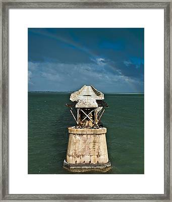 Overseas Railroad Framed Print