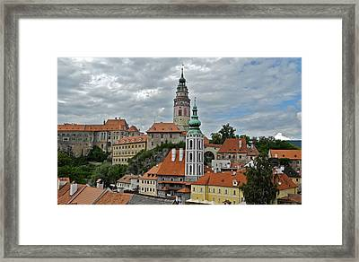 Framed Print featuring the photograph Overview Of Cesky Krumlov by Kirsten Giving