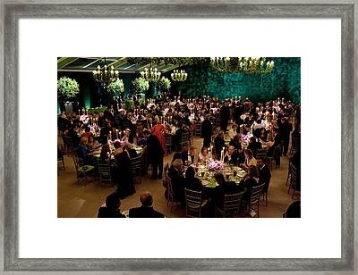 Overview Of The State Dinner Framed Print