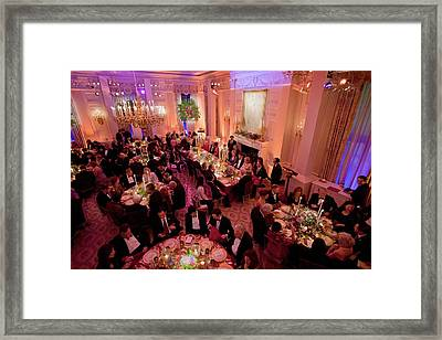 Overview Of The State Dinner Honoring Framed Print