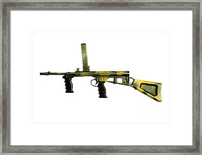 Owen Gun, An Australian 9mm Submachine Framed Print by Andrew Chittock