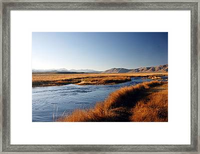 Owens River Framed Print by Michael Courtney