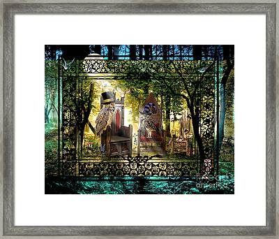 Owl Empire Society Framed Print by Warrior Danika