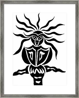 Owl Or Alien Two Framed Print by Beth Akerman