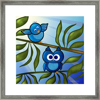 Owl Pal Framed Print by Melisa Meyers