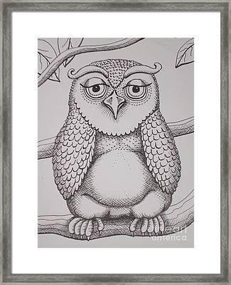 Owl Sketch Framed Print by Barbara Stirrup
