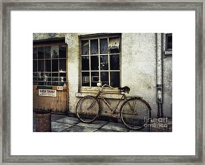 Ownerless Bicycle Framed Print by Jutta Maria Pusl