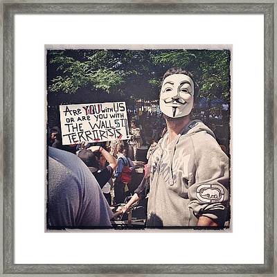 Ows Occupy Wall Street Framed Print