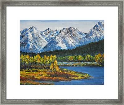 Oxbow-grand Tetons  Framed Print