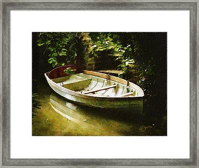 Oxford Boat And Dock Framed Print