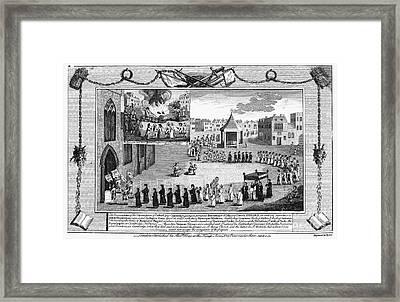 Oxford Martyrs, 1556 Framed Print by Granger