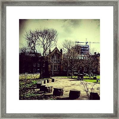 #oxfordroad #manchester #trees Framed Print