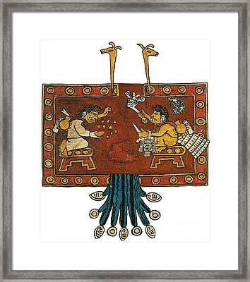 Oxomoxo And Cipactonal, Aztec Adam Framed Print