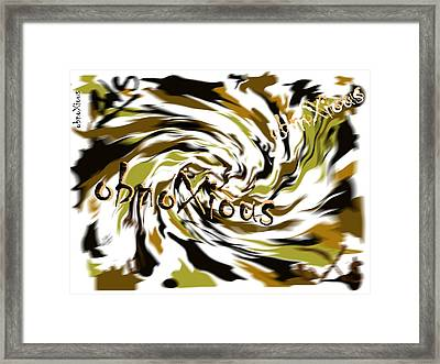 oXs Dunga Framed Print by OXs ObnoXious