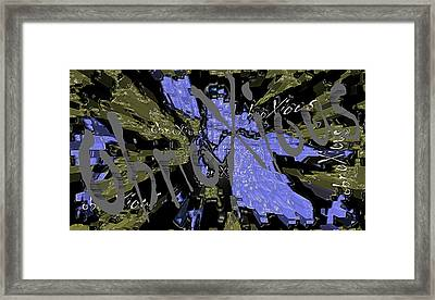 oXs Ghost Framed Print by OXs ObnoXious