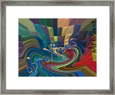oXs Goober Framed Print by OXs ObnoXious