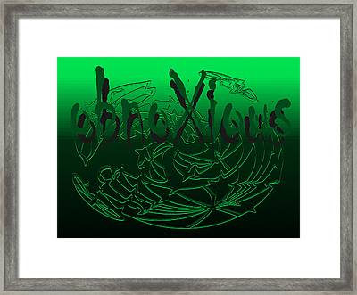 oXs It's Green Framed Print by OXs ObnoXious