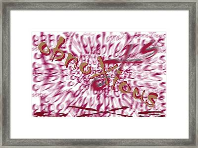 oXs Red Framed Print by OXs ObnoXious