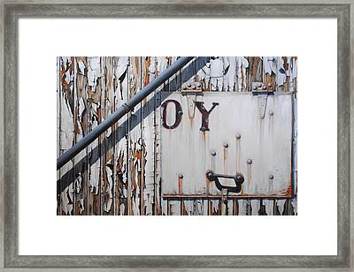 ...oy Framed Print by Chris Steinken
