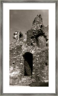 Oystermouth Castle Ruins Detail Framed Print