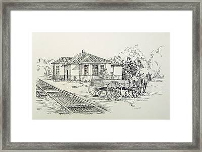 Ozark Depot Framed Print by Charles Sims