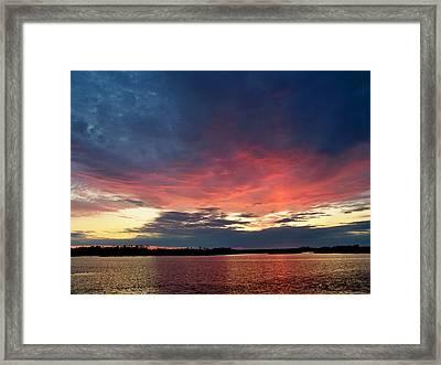 Ozello Sunset Framed Print by Judy Wanamaker