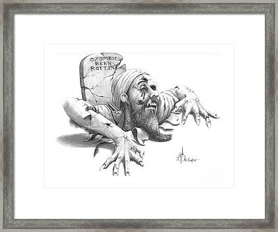 Ozombie Been Rottin Framed Print by Murphy Elliott