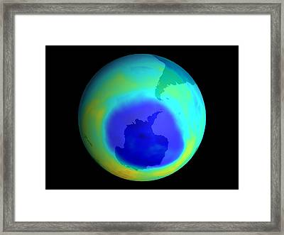Ozone Hole, September 2003 Framed Print by Nasa
