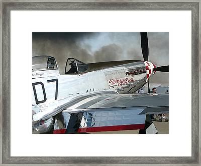 P-51 Worry Bird Framed Print