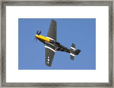 P51 Mustang Cadillac Of The Skies Framed Print