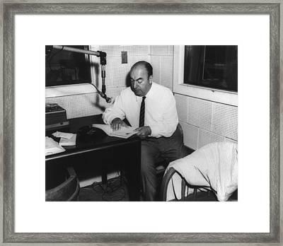 Pablo Neruda 1904-1973, Chilean Poet Framed Print by Everett