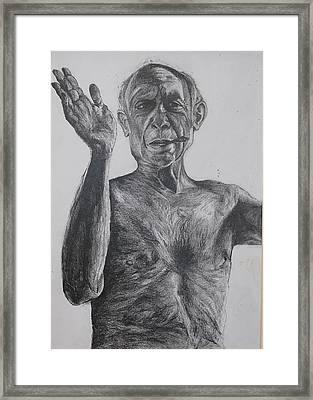 Pablo Picasso Framed Print by Mackenzie Scott