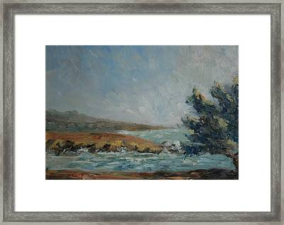 Pacific Air Cambria Coast Framed Print