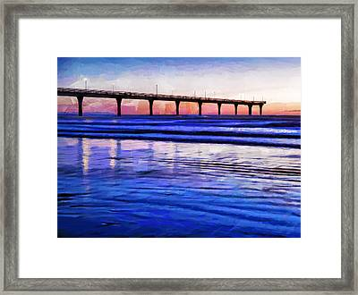 Pacific Blue  Framed Print by Steve Taylor